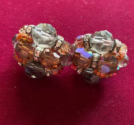Pretty Iridescent Clip On Earrings from Vendome