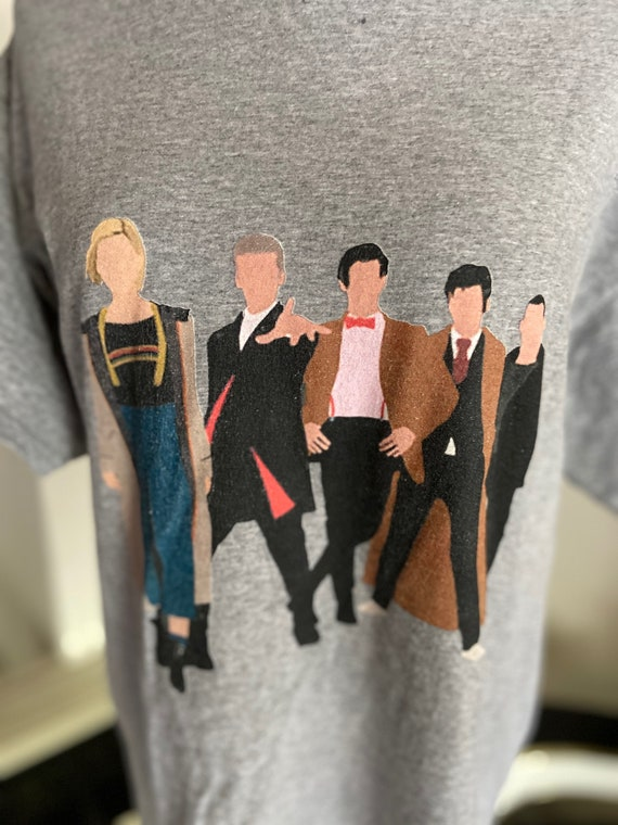 Cute Grey Dr. Who The Doctor Tee Size Medium