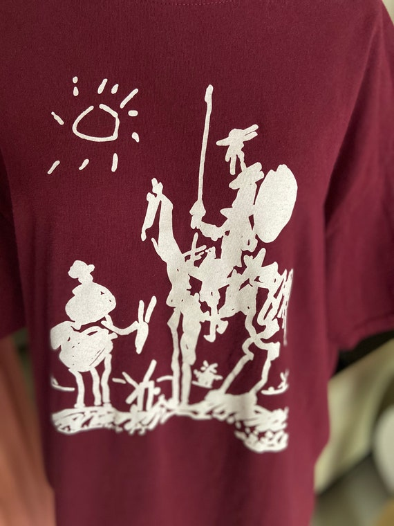 Maroon Don Quixote Tee T-Shirt with Nelson Mandela Quote