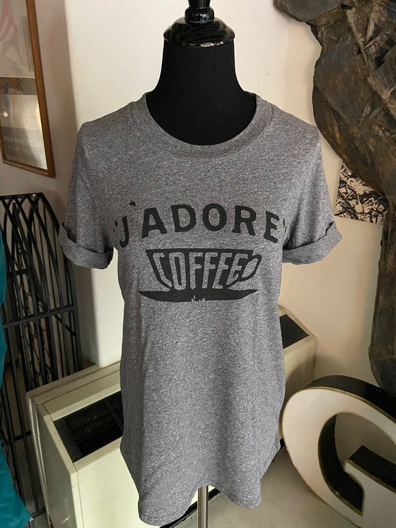 J'Adore Coffee Tee T-Shirt Size Small