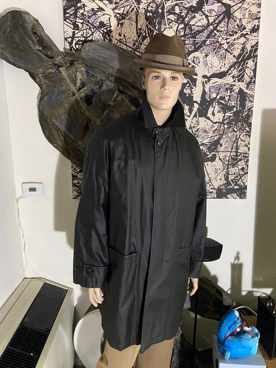 Sharp Ralph Lauren Chaps Black Raincoat Size XL,(48)