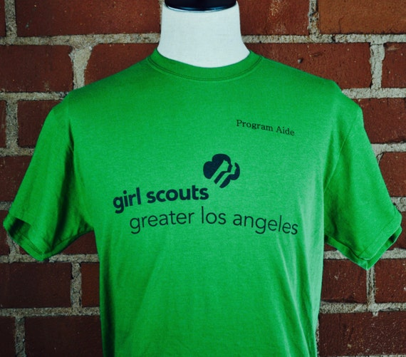 Girl Scouts of Greater Los Angeles Program Aide Green T Shirt Tee Sz M