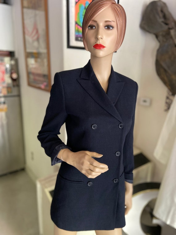 Fabulous Vintage Barney's 1990s Women's Navy Blue