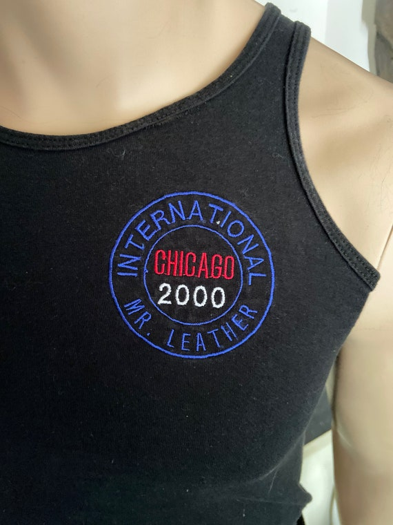 Men's International Mr. Leather Chicago 2000 Tank Top Tee Size