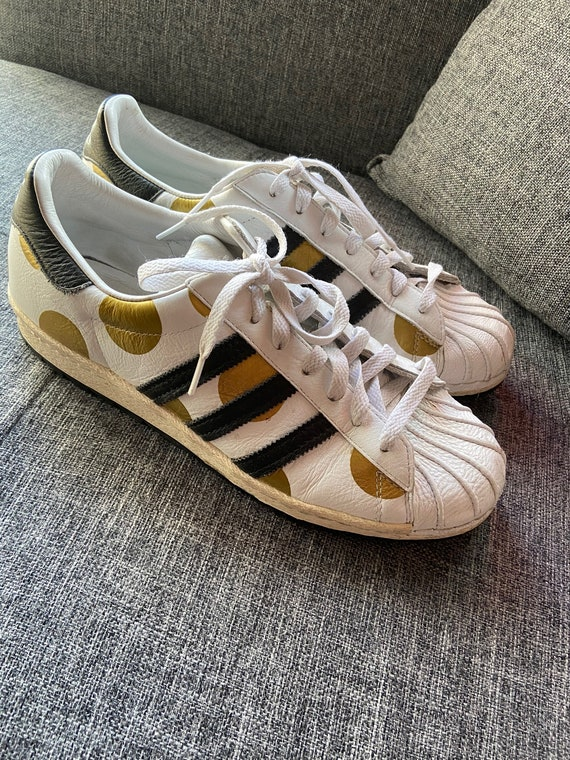 Jeremy Scott Superstar Gold Polka Dot Sneakers Sz 10.5