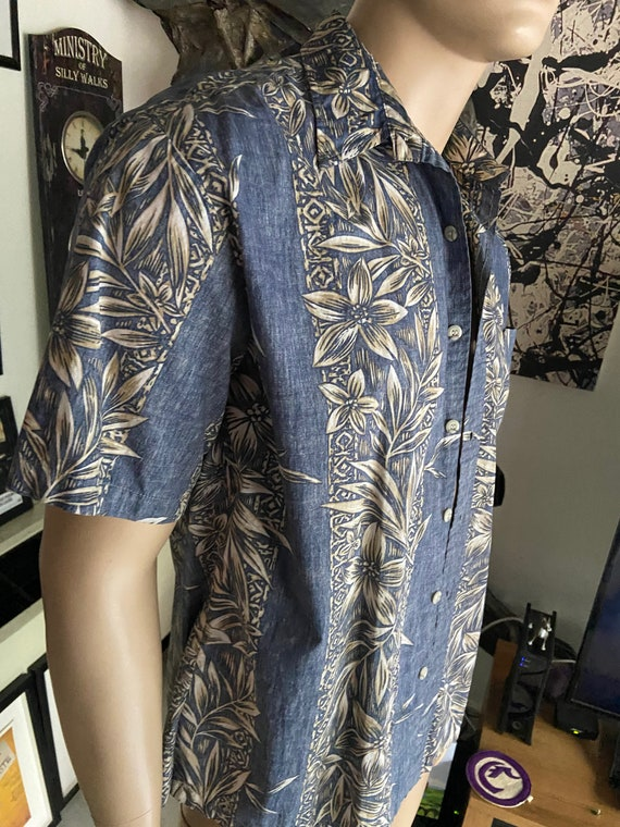 Men's Blue Hawaiian Shirt from Cook Street Honolulu