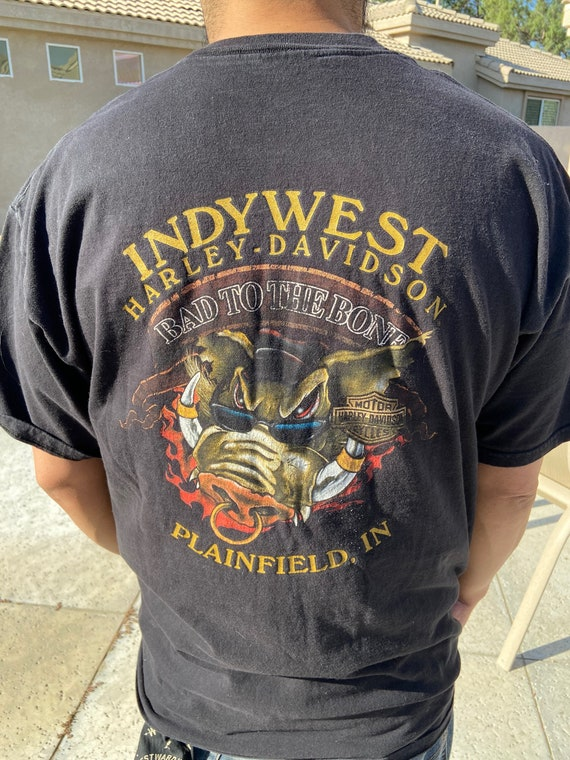 Harley Davidson Indy West Plainfield, IN Tee T-Shirt Size XL