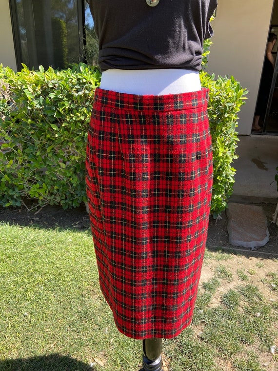 Vintage 1990s Pendleton Wool Skirt Fully Lined Size 10