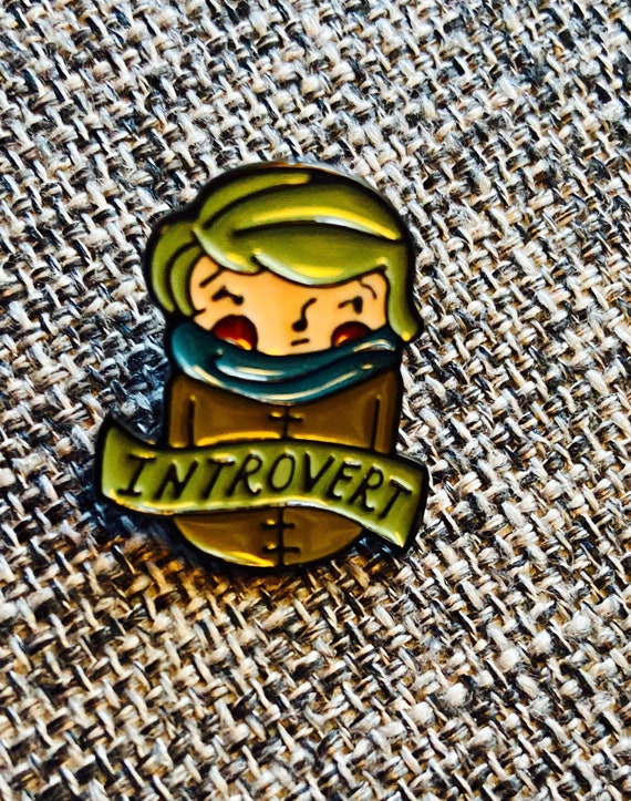 Cute Little Introvert Enamel Pin