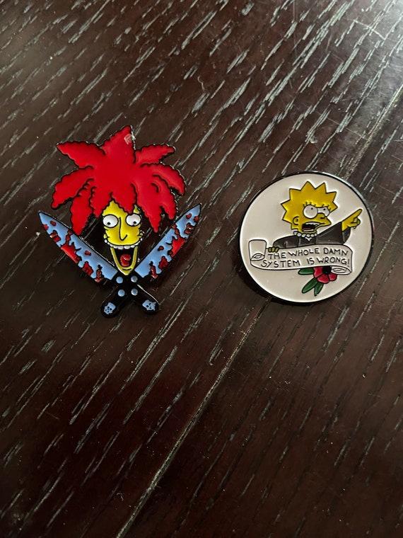 Lisa Simpson and Sideshow Bob Simpsons Enamel Pin Lot