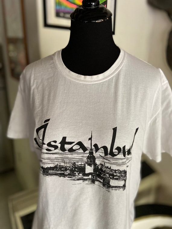 Cute Vintage 1990s Istanbul White Tee T-Shirt
