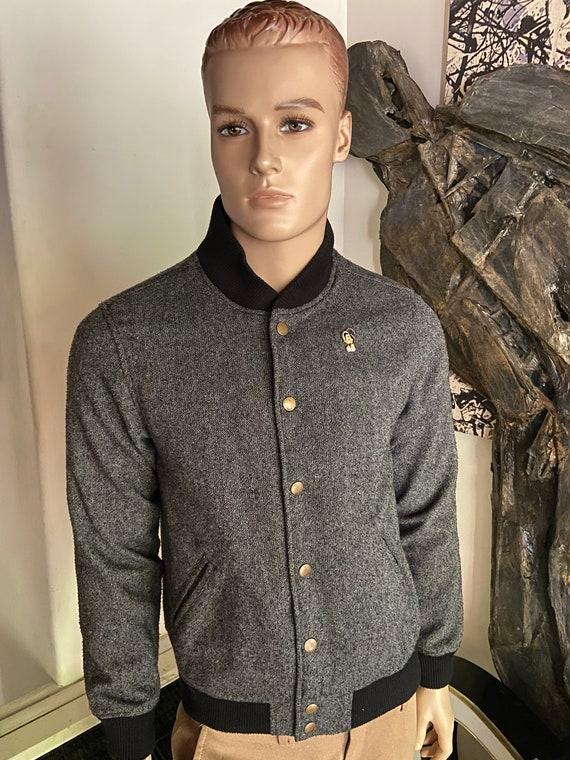 Cool Obey Propaganda Men's Jacket Upcycled with Amy Winehouse Enamel Pin Size Medium