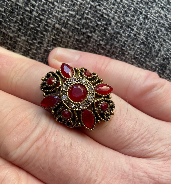 Fancy Cocktail Costume Statement Ring Size 10