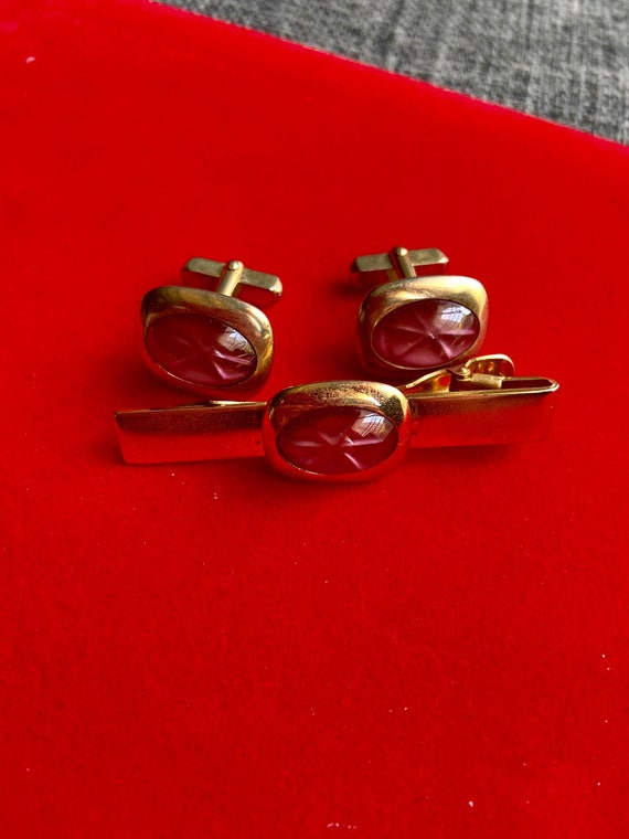 Vintage 1980s Lot of Cuff Links and Two Tie Clips by Anson and Swank