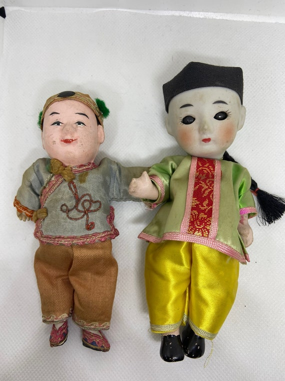 Late 1940s Post WWII Chinese Doll Set