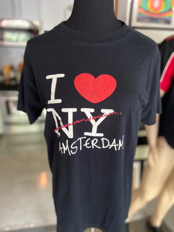 Vintage 1990s I Heart Amsterdam Tee Tshirt Sz S