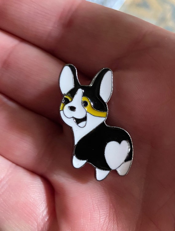 Adorable Corgi Enamel Pin Brooch Badge