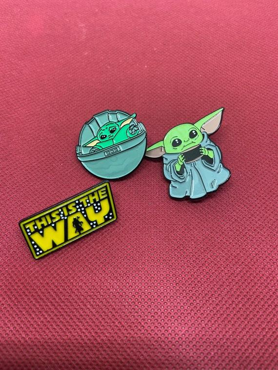 Adorable Baby Yoda Grogu Mandalorian Enamel Pin Lot This Is The Way