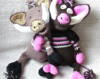 Tuto ou Patron Sanglier au crochet