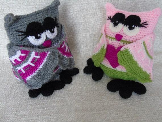 Grande Chouette Au Crochet Hibou Au Crochet Chouette Doudou