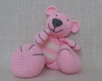 Teddy bear crochet Gordinette the schoolmistress