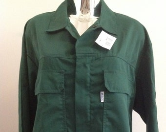 French workwear deadstock green jacket, French utility, summer chores, hipster fashion, French hipster, vintage gardening