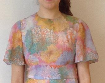 70s bridesmaid ceremony dress