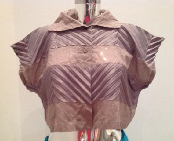NWT issey miyake crop shirt, vintage issey miyake… - image 2