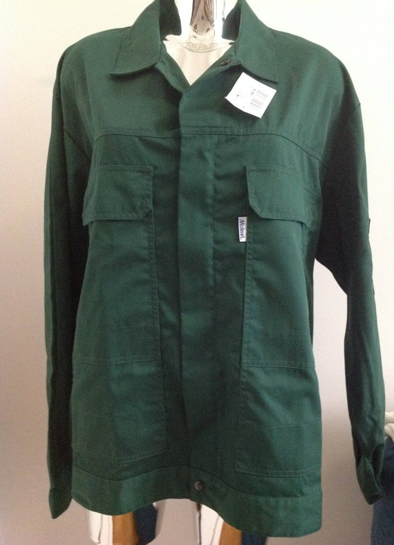 French workwear deadstock green jacket, French uti