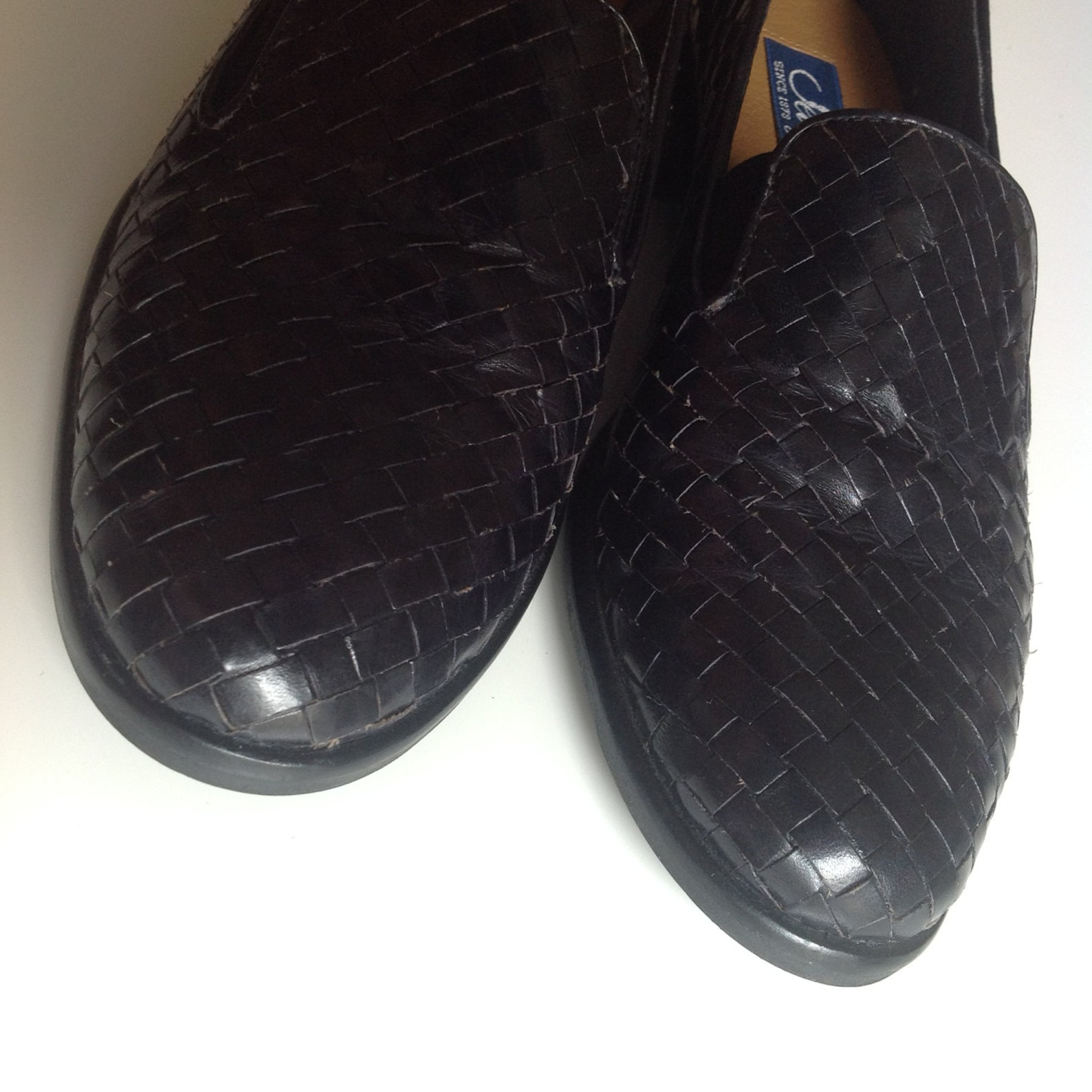 woven leather ballerines, 90s slip-ons, black loafers, narrow foot, small ballerines, elegant flats, ballet loafers, black woven