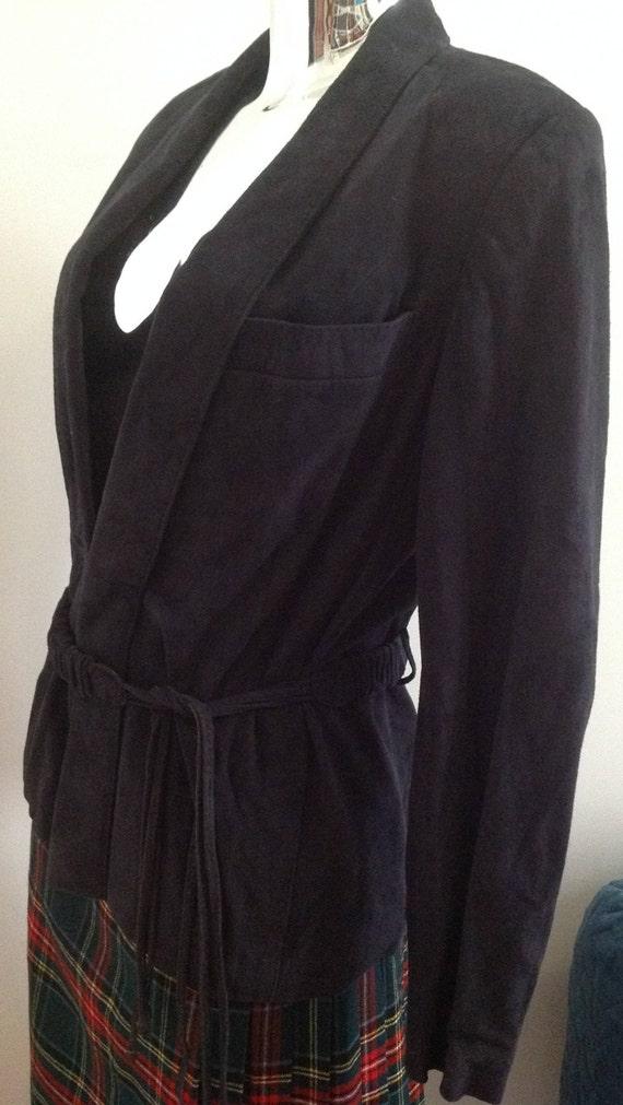 unique black suede jacket 80s, suede jacket, black