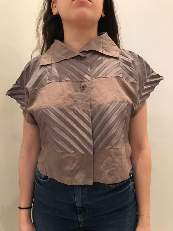 NWT issey miyake crop shirt, vintage issey miyake,