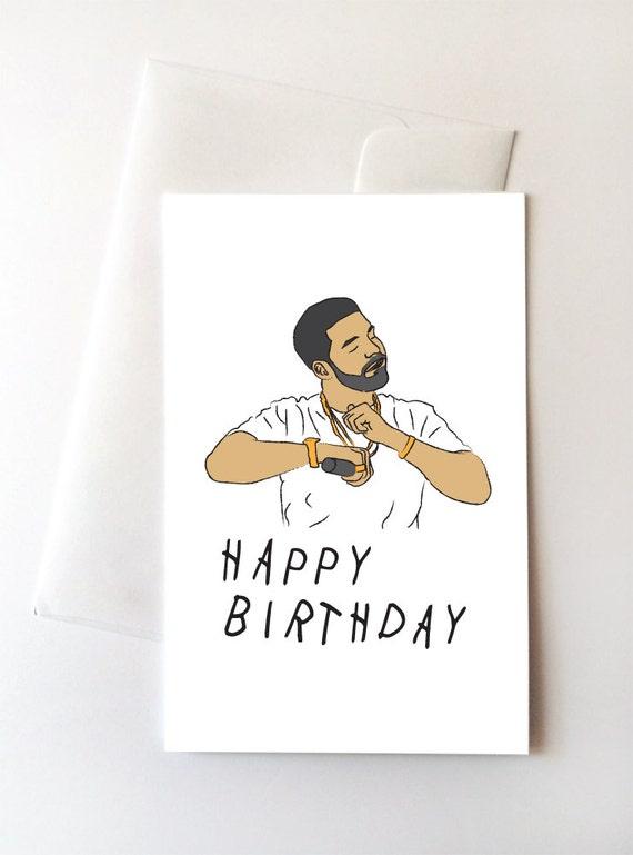 Carte De Joyeux Anniversaire Danse Drake Etsy