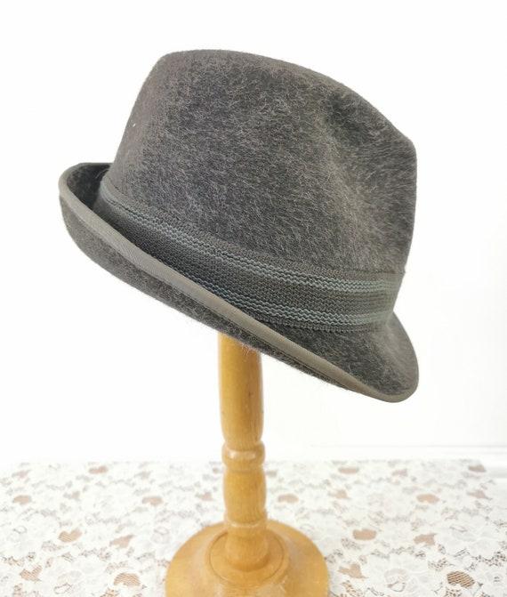 Vintage Trilby, Vintage Hat, Grey Trilby, Forster,