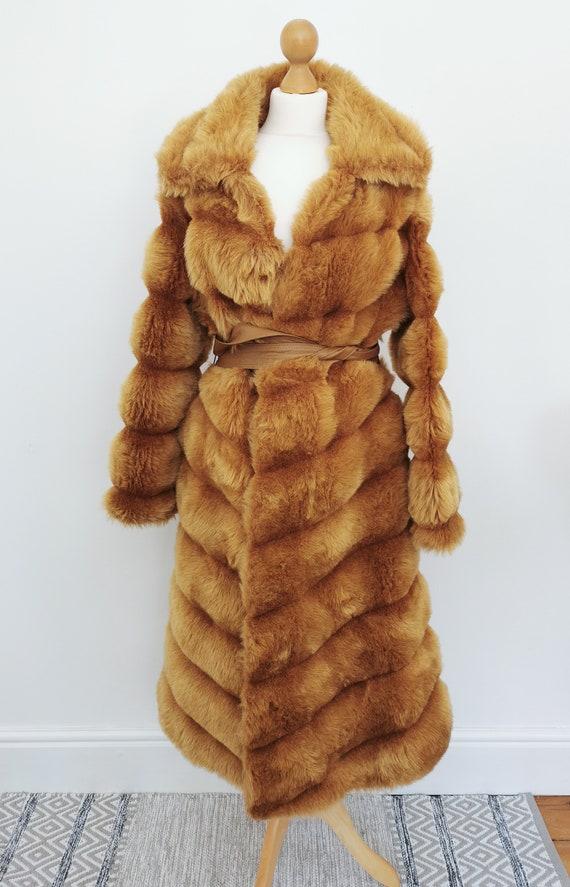 Vintage 70s Faux Fur Coat, Richard of Mayfair, Vin