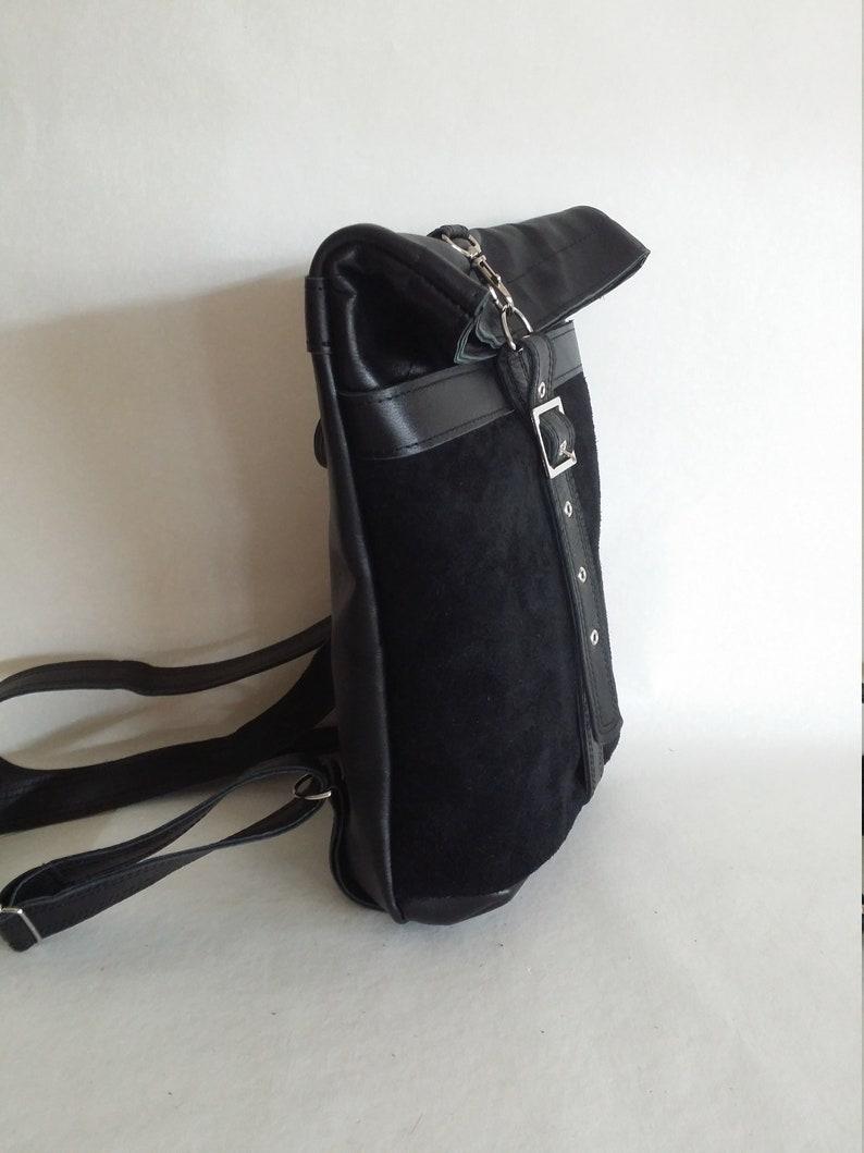 Rucksack leatherLeather bagBack packMini Rucksack leatherLeather pouchHandmade leather bagMini leather womanmen rucksack