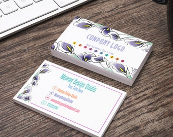 Pink lilly business card color block card home office etsy purple calla lilly business card color block card home office approved branding guide fontscolors leggings business cash cards reheart Choice Image