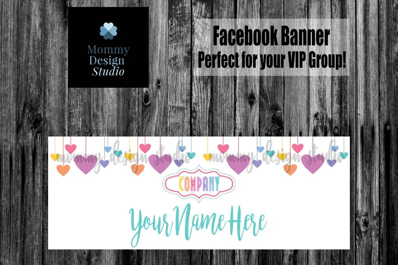 Multi Color Heartstrings FB Banner -Matching Business Thank/Care Cards -  Leggings Fashion Retailer - FB VIP Shop Group - Leggings Hearts