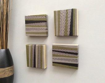 Modern, Original, Handmade, Contemporary Wall Art (Set of 4)