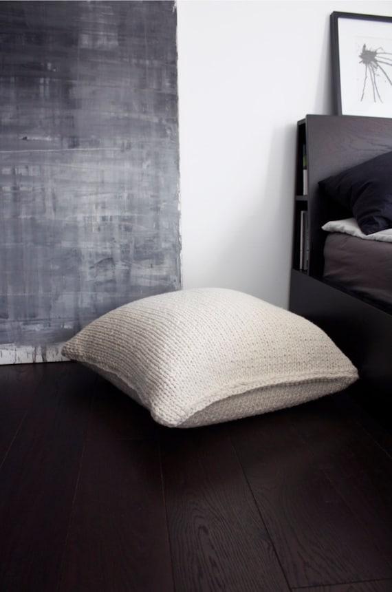MADE TO ORDER Wolle Hocker-Wolle Stuhl-stricken Möbel-Kissen | Etsy