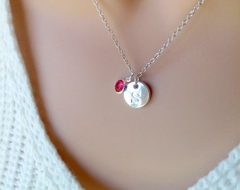 Windmill Necklace Personalized Name Initial Birthstone Sterling Silver Women Girl Kid Child Gift Custom Monogram Letter Charm Jewelry