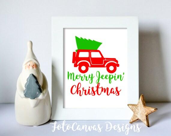 Christmas Jeep Silhouette.Sale Merry Jeepin Christmas Svg Jeep Christmas Silhouette Cameo Cricut Jeep Life Christmas Tree Holiday Winter Season