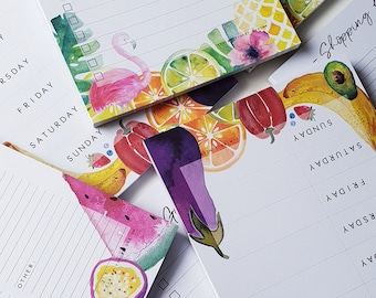 6ba15387c8f Watercolour Planners    Shopping List    To-Do List    Meal Planner