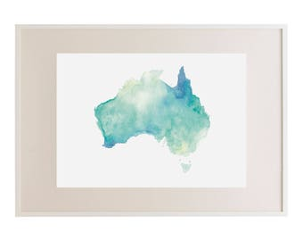 Australia Watercolour Print // Art Print // Watercolour // Wall Art // Illustration