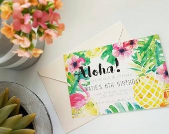 Aloha! Invitiations / Invites / Birthday / Wedding / Engagement / Special Occasion / Hawaiian / Luau / Tropical