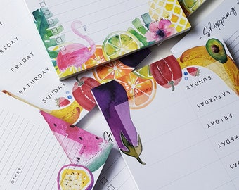Watercolour Planners // Shopping List // To-Do List // Meal Planner