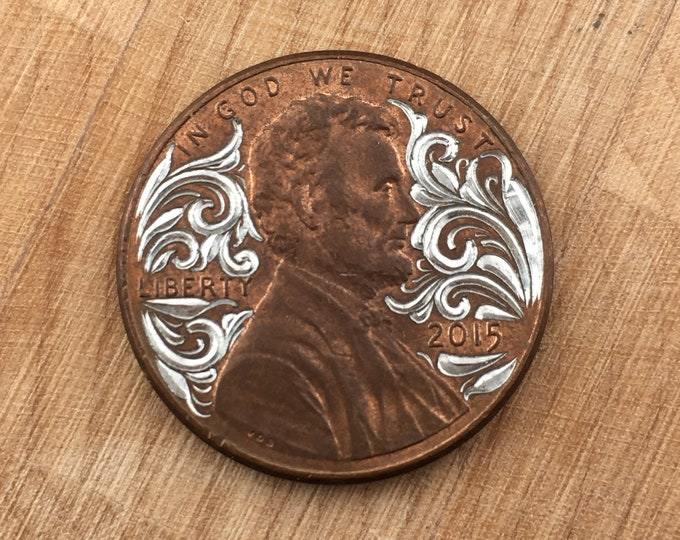 Hand Engraved Lucky Penny Flare cut