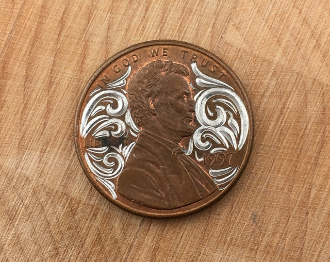 Hand Engraved Lucky Penny