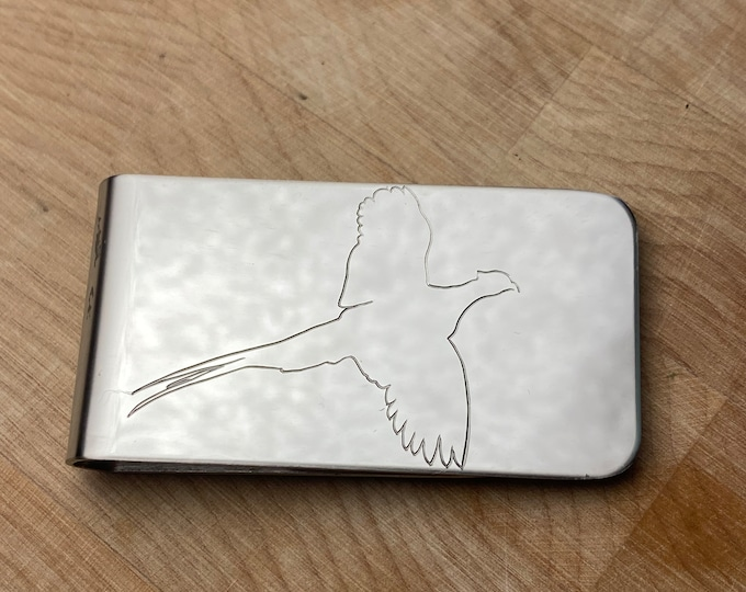 Pheasant Money Clip