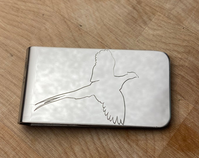 Pheasant Money Clip